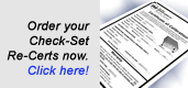 Order your Check-Set Re-Certifications here!