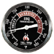 Barbecue Thermometer, Black Dial BQ300, 3 inch dial and 2-1/2 inch stem
