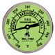 Barbecue Thermometer, Glow Dial BQ300, 3 inch dial with 2-1/2 inch stem