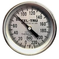 Meat Cooking Thermometer MT39, 1-3/4 inch dial, 8 inch stem, 0/220 degrees F