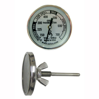 Barbecue Grill Thermometer BQ100, 1-3/4 inch dial and 2.13 inch stem