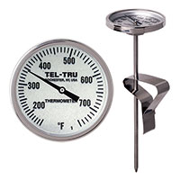 BIG Green Egg, Primo, Komodo, Grill Dome, or other Kamado-style Replacement Thermometer LT225R, 5 inch stem, 150/750 degrees F