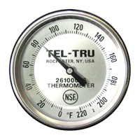 Meat Cooking Thermometer BT275R, 2 inch dial, 8 inch stem, 0/220 degrees F