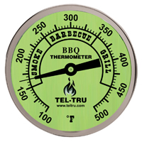 Barbecue Thermometer, Glow Dial BQ300, 3 inch dial with 4 inch stem