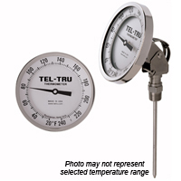 AA575R Adjustable Angle Thermometer, 5 inch dial