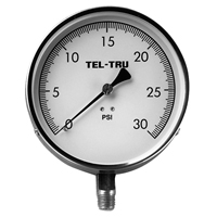 "Mechanical Contractor Pressure Gauge Model 52, 4-1/2"" dial, 1/4"" NPT, lower conn."