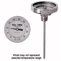 GT400R Back Connect Thermometer, 4 inch dial with calibration feature