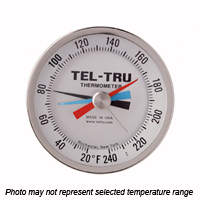 MM525R Back Connected Thermometer, 5 inch dial, Min AND Max Temperature Indicator