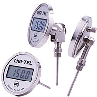 "Digi-Tel Industrial Direct Mounting Thermometer ND5, 5"" case"