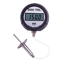 "Digi-Tel Sanitary Remote Mounting Thermometer SD4, 4.5"" case"